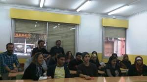 Els alumnes del CFA Can Serra amb Pere Llobera i Artur Muñoz
