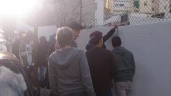 El mur tindrà un espai per als projectes dels alumnes i una inscripció: Aspiracions més altes